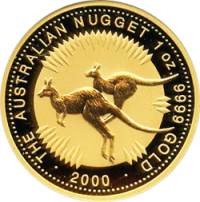 Gold Australian Nugget coin