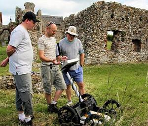 Using ground penetrating radar to search for buried treasures
