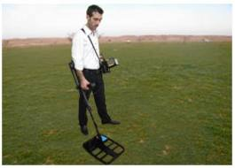 A sonar to detect metal