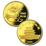 Gold Chinese Panda coin