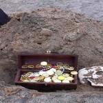 metal treasure chest