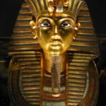 In Egypt found the head of a giant statue of Pharaoh Amenhotep is the grandfather of the famous Tutankhamun
