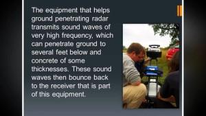 Ground Penetrating Radar To Locate Underground